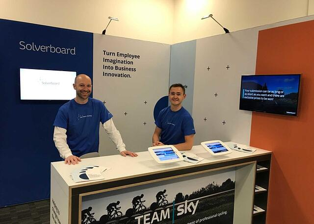 Aaron and Toby from the Solverboard Customer Success Team at the Chief Innovation Officer Summit 2017
