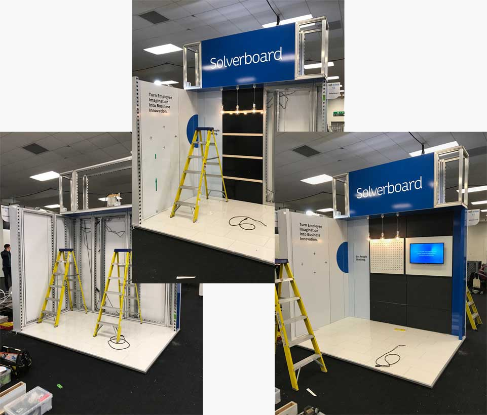 Solverboard stand taking shape at the Internet of Things Tech Expo