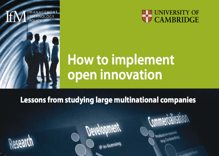 Not sure where to start with Open Innovation? Front cover for IfM report.