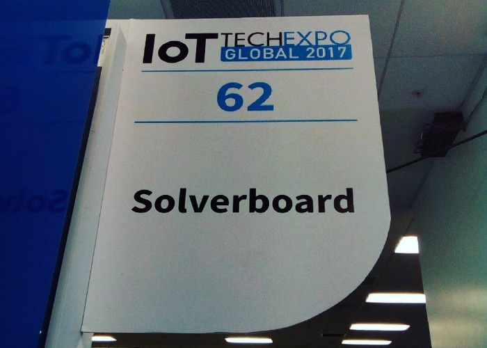 IoT Tech Expo Solverboard stand banner