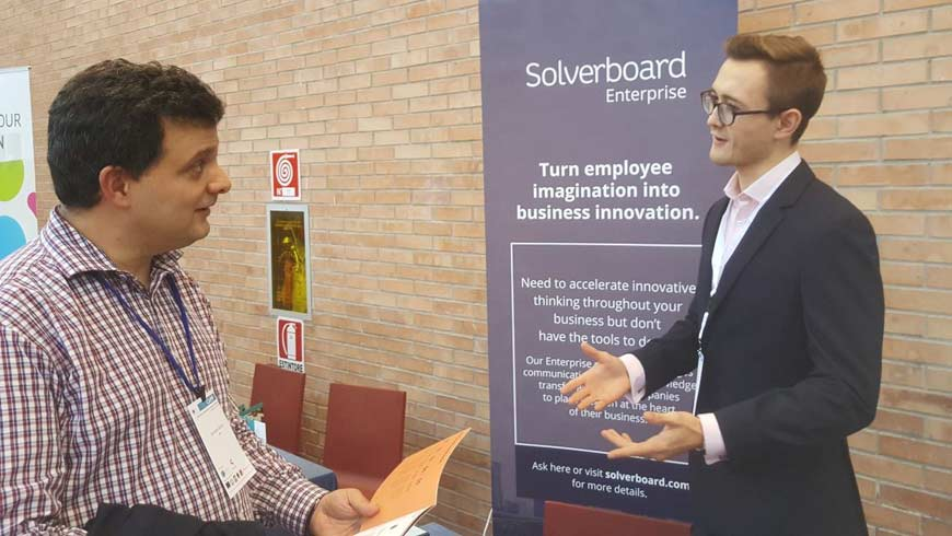 Toby Bartholomew representing Solverboard at EBN-Italy