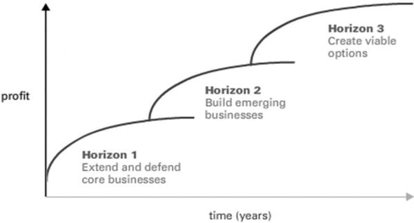Three horizons of growth